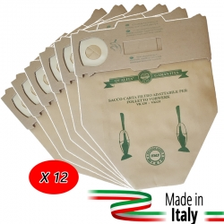 12 SACCHETTI PER FOLLETTO VK 130 131 IN CARTA ANTIBATTERICA 3 STRATI